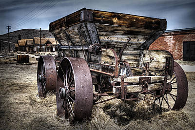 Ghost Town Wagon Art Print