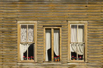 Ghost Town Windows Art Print by Shelley Dennis