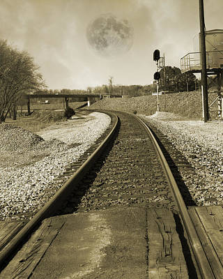 Old Country Roads Photograph - Ghost Train by Betsy Knapp