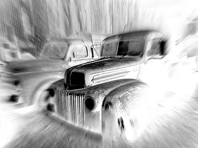 Wall Art - Photograph - Ghost Trucks by Mickey Murphy
