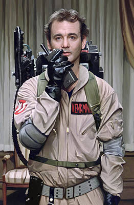 Bill Painting - Ghostbusters - Bill Murray Artwork 2 by Sheraz A
