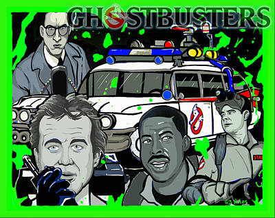 Mixed Media - Ghostbusters by Gary Niles