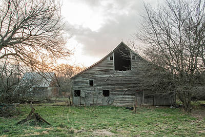Ghostly Barn Art Print