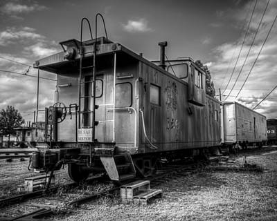 Photograph - Ghostly Caboose by James Barber