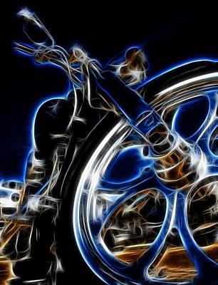 Digital Art - Ghostly Chopper by Ricky Barnard