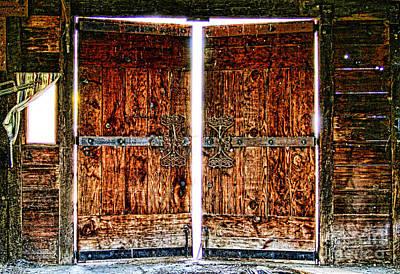 Photograph - Ghostly Doors By Diana Sainz by Diana Raquel Sainz