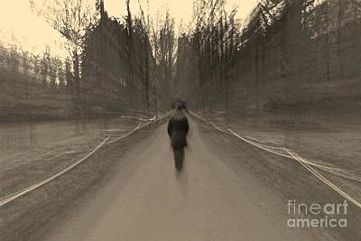 Photograph - Ghostly Figure by David Warrington