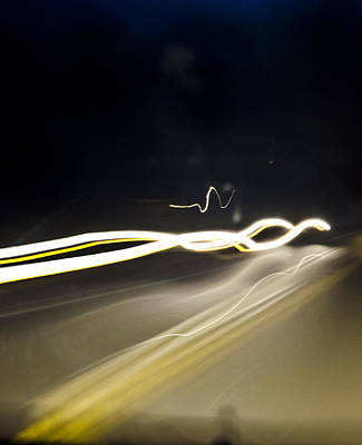 Photograph - Ghostly Road Lights by Heather Grow