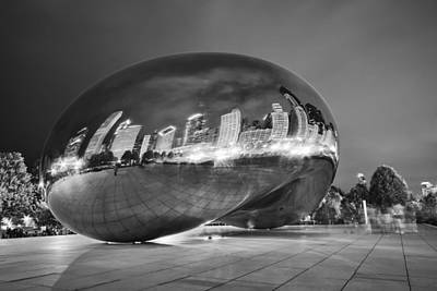 Millennium Park Photograph - Ghosts In The Bean by Adam Romanowicz