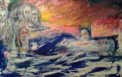 Painting - Ghosts Of The Seven Seas by Randall Ciotti