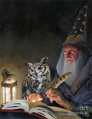 Sorcerer Painting - Ghostwriter by J W Baker