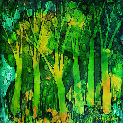 Painting - Ghosty Forest by Angela Treat Lyon