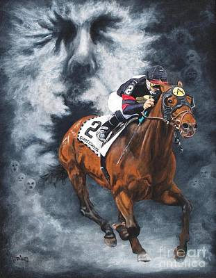 Horse Racing Painting - Ghostzapper by Pat DeLong