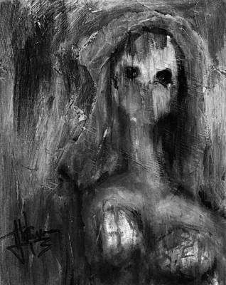 Mixed Media - Ghoul In B And W by Jim Vance