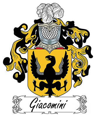 Giacomini Coat Of Arms Di Firenze Art Print by Heraldry
