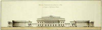 Geometrical Drawing - Giacomo Quarenghi, Geometrical Elevation Of The Peace Plaza by Quint Lox