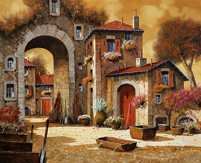 Red Sky Wall Art - Painting - Giallo by Guido Borelli