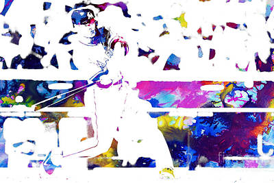 Outfielder Painting - Giancarlo Stanton by Doc Braham
