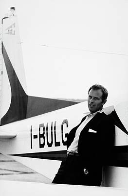 Passenger Plane Photograph - Gianni Bulgari By His Airplane by Elisabetta Catalano
