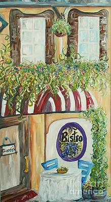Cook Painting - Gianni's Bistro by Eloise Schneider