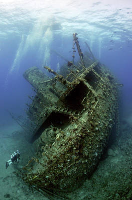 Shipwreck Wall Art - Photograph - Giannis D Wreck. by Dray Van Beeck