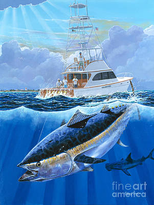 Oahu Painting - Giant Bluefin Off00130 by Carey Chen