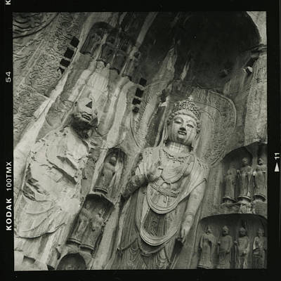 Becky Photograph - Giant Buddhist Carvings Longman Grottoes by Becky Kozlen