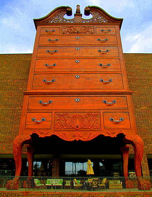 Photograph - Giant Chippendale Chest Of Drawers by Randall Weidner