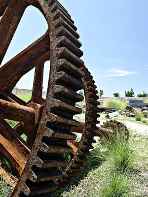 Photograph - Giant Cog by Richard Reeve
