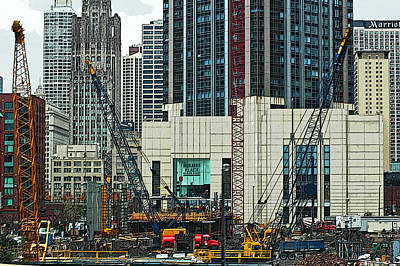 Photograph - Downtown Chicago High Rise Construction Site by Ginger Wakem