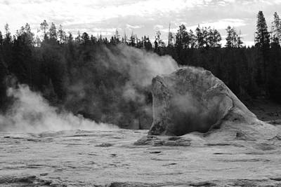 Photograph - Giant Geyser Black And White by Robert  Moss