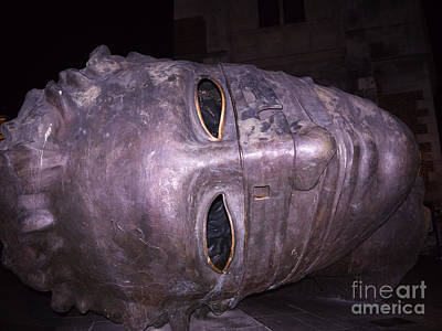 Photograph - Giant Head In Krakow by Brenda Kean
