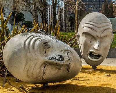Photograph - Giant Heads by Ron Pate