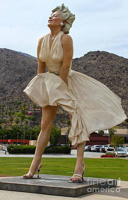 Photograph - Giant Marilyn Monroe Statue In Palm Springs - 02 by Gregory Dyer