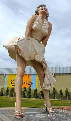 Photograph - Giant Marilyn Monroe Statue In Palm Springs - 03 by Gregory Dyer