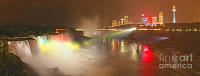 Photograph - Giant Niagara Night Time Panorama by Adam Jewell