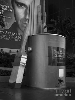 Giant Paint Bucket Las Vegas 2013 Art Print by Edward Fielding