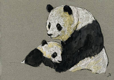 Pencil Painting - Giant Panda by Juan  Bosco