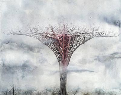 Giant Plant Art Print by Bjorn Eek