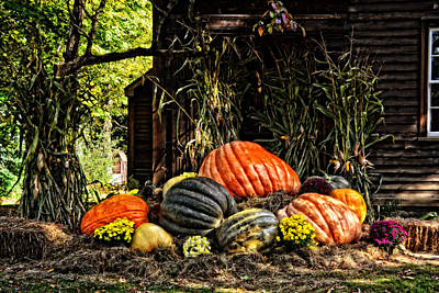 Photograph - Giant Pumpkins by Mike Martin