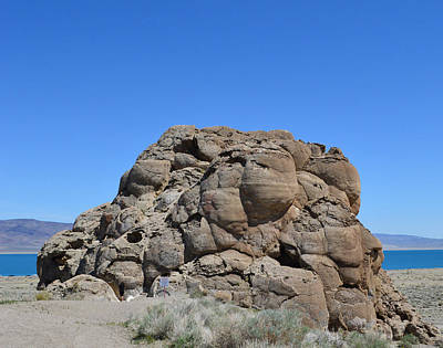 Photograph - Giant Rock Formation At Pyramid Lake 2 by Brent Dolliver