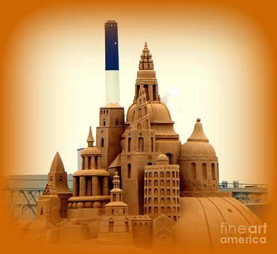 Photograph - Giant Sand Castle by John Potts