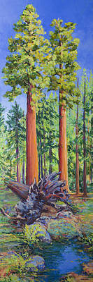 Giant Sequoias With Fallen Giant Original by Joy Collier