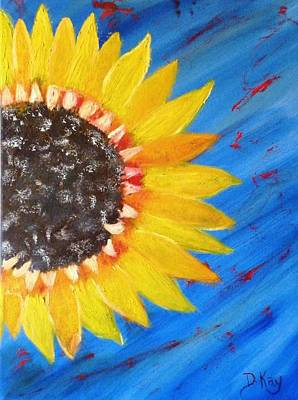 Painting - Giant Sunflower 2 by The GYPSY