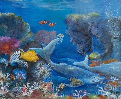 Giant Visitors Of The Reef Original by John Garland  Tyson