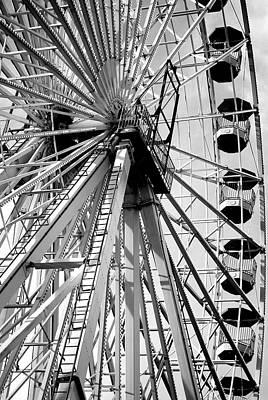 Giant Wheel Art Print by Mary Beth Landis