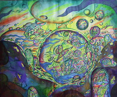 Abstract Creations Drawing - Giant World.  by Marat Ivanov