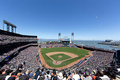 Photograph - Giants Baseball Game At Att Ball Park In San Francisco by Carol M Highsmith