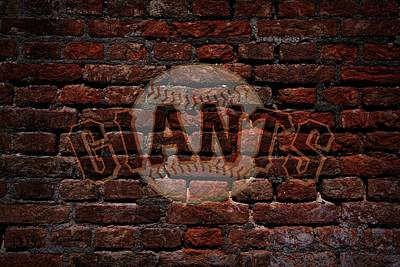 Cabin Wall Digital Art - Giants Baseball Graffiti On Brick  by Movie Poster Prints