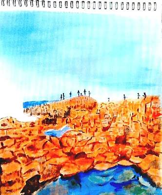 Painting - Giants Causeway by Audrey Pollitt